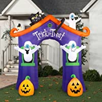 Gemmy Airblown Inflatable 9-ft X 8.5-ft Archway Ghost House