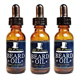 Premium Beard Oil and Conditioner for a Softer, Itch Free Beard - Variety Pack of 3 - 1 oz Bottles - Handmade with High Quality Carrier and Essential Oils that Offer Important Vitamins and Nutrients!