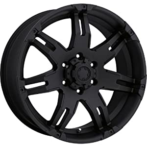 Ultra Gauntlet 17 Black Wheel / Rim 6×135 with a 25mm Offset and a 87 Hub Bore. Partnumber 238-7963B