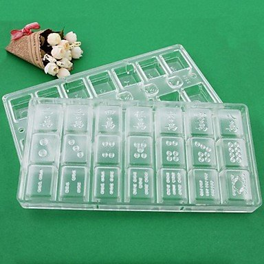 Plastic Mahjong jelly chocolate Mould Set of 2 Piece28x14x2.5cm BOYI B00TEQMC02