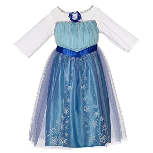 Elsa Enchanted Dress W/ Sing-Along DVD & Singing Light up Microphone
