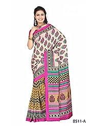 Attractive Multicolor Bhagalpuri Printed Art Silk Designer Saree