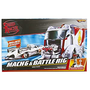 HOT WHEELS Speed Racer Mach 6 and Battle Rig