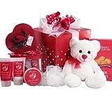 Cuddles & Kisses Chocolate Truffle Spa Set with Chocolates, Cookies & Teddy Bear