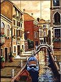 Venice Sunlight by Joanne Margosian Tile Mural for Kitchen Backsplash Bathroom Wall Tile Mural