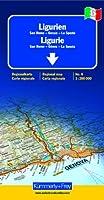 Ligurie - Riviera Italienne (avec plans de San Remo, Gênes, La Spezia) - Carte régionale, routière et touristique - Italie (échelle : 1/200 000)