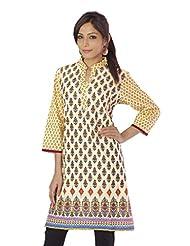 Shopping Rajasthan Exclusive Pure Cotton Handloom Handweaved Block Print Design Kurti Top - B00PHBYPTE