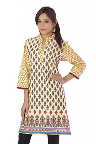 Shopping Rajasthan Exclusive Pure Cotton Handloom Handweaved Block Print Design Kurti Top - B00PHBYPTE