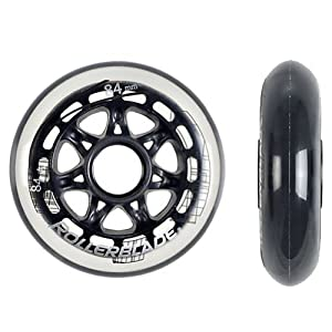Rollerblade All Purpose Wheels (8-Pack), Clear, 84mm by Rollerblade