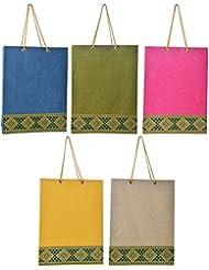 Richa Kriti Multi Color Shopping Bags Set Of 5 (RK039)
