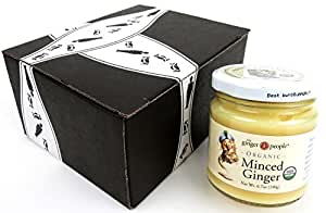 The Ginger People Organic Minced Ginger, 6.7 oz Jar in a BlackTie Box