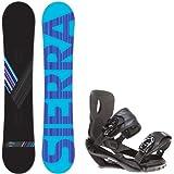 Sierra Reverse Crew 151 Mens Mens Snowboard + Sapient Wisdom Black Bindings - Fits Boot... by Sierra