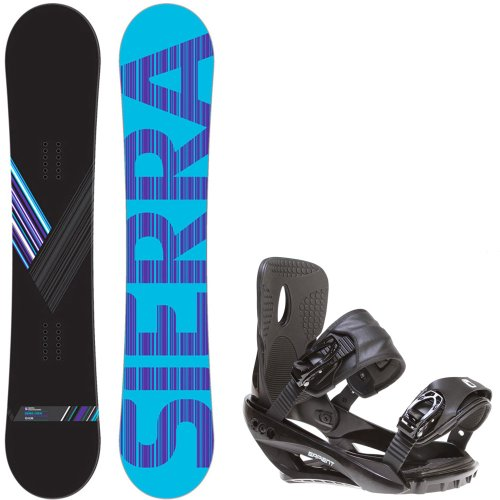 Sierra Reverse Crew 151 Mens Mens Snowboard + Sapient Wisdom Black Bindings – Fits Boot Sizes: 8,9,10,11