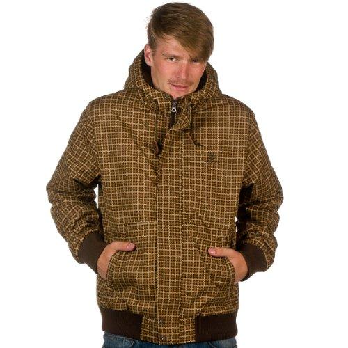 Element-Giaccone da uomo, modello Plymouth Print, Uomo, bear brown, XL