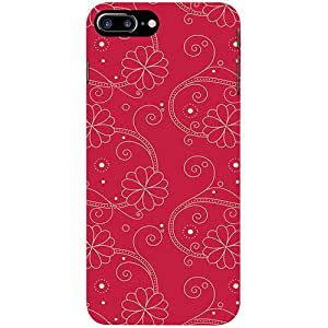 Casotec Floral Red White Design 3D Printed Hard Back Case Cover for Apple iPhone 7 Plus