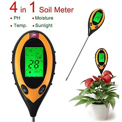 4 In 1 Electronic Soil Tester PH Humidity Temperature Analyzer (Electronic Soil Tester compare prices)