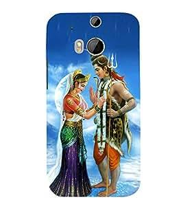 Sureshwara Shiv Parvati 3D Hard Polycarbonate Designer Back Case Cover for HTC One M8 :: HTC M8 :: HTC One M 8
