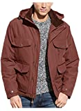 Hawke and Co. Mens Hooded Brown Barn Jacket Medium M Water and Wind Resistant