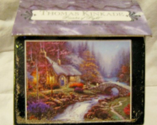 Thomas Kinkade 100 Pc Miniature Jigsaw- Candlelight Cottage