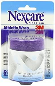 Nexcare Athletic Wrap, 3-Inch x 5-Yard Stretched, Purple Color (Pack of 6) by Nexcare