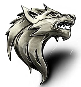 Amazon.com: COOL&BRIGHT Cool Wolf Head Car Side/Rear/Front