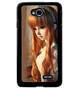 Printvisa Baby Doll Dressed Up In Check Dress Back Case Cover for LG L70 D320N::LG L70 Dual D325