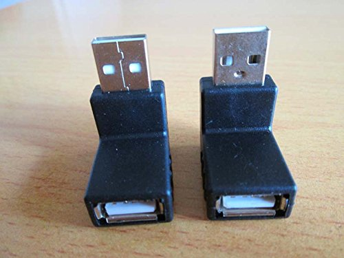Happy& Shopping 1 Pair Up + Down Right Angle 90Degree Usb2.0 A Male To Female Converters Adapters