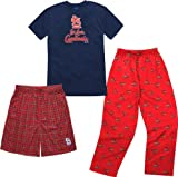 St. Louis Cardinals Youth Adidas T-Shirt Boxer & Pant 3 Piece Sleep Set Amazon.com