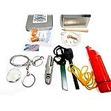 "Survival Kit- ""Get Back"" Survival Kit With Fire Starter Kit and Emergency Mylar Blanket By Aspen Ridge"