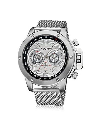 Akribos XXIV Men's AK515SSW Silver-Tone Mesh Watch
