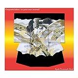 お宮参り 着物 正絹の男の子の着物(初着・産着)「黒地、鷹と小槌」MSK05