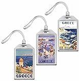 Ars Antigua Vintage Greek Travel Posters Luggage Tags - Set of 3