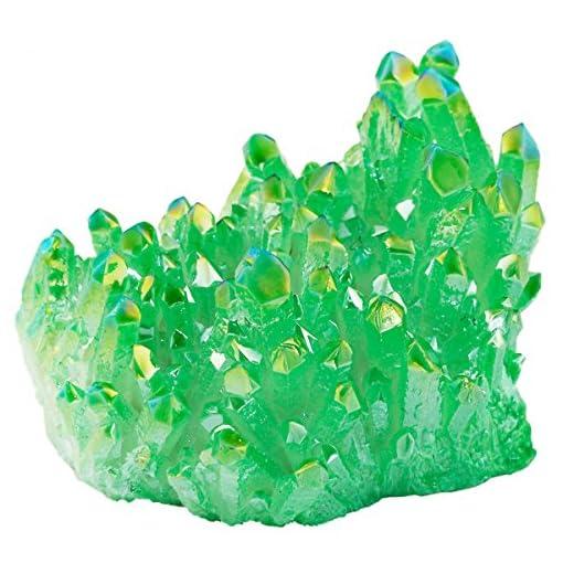 Shanxing-Natrlichen-Titanium-berzogen-Quarz-Drusen-Edelstein-Kristall-Cluster-Deko-DekorationGrne