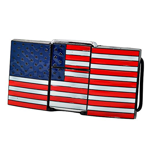 Buckle Rage Adult Unisex Gun Cannon Removable Lighter Belt Buckle American Flag