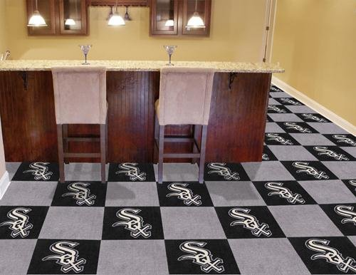 "Chicago White Sox MLB Carpet 18""x18"" Tiles"