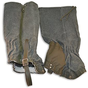 New Swiss Military Mountain Zip Wool Gaiters by Swiss Military