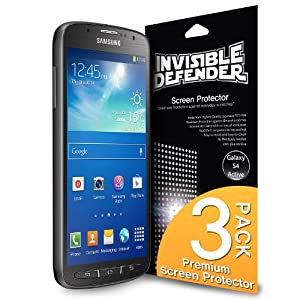[HD CLARITY] Invisible Defender - Samsung Galaxy S4 Active Screen Protector Premium HD Crystal Clear Film with [3 PACK/Lifetime Replacement Warranty] High Definition Clarity Film The World's Best Selling Premium EXTREME CLEAR Screen Protector for Galaxy S4 Active 2013 Model