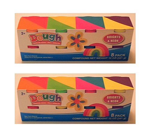 Dough's 8 Tubs of Children's Modeling Dough - 2 Pack! For 16 Tubs for Sharing!