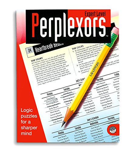 MindWare - Perplexors: Expert Level - 50 Logic Puzzles - Great for Helping With Standardized Tests - Challenging and Rewarding - 1