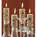 Tag 710384 Wine Cork Candles (Set of 4), 2.88 x 1.13″, Natural