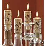 Tag 710384 Wine Cork Candles (Set of 4), 2.88 x 1.13″, Natural