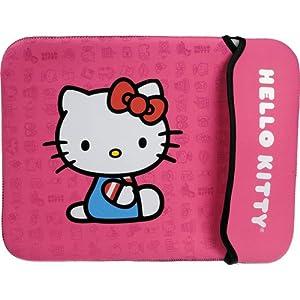 Hello Kitty 12-inch Neoprene Sleeve Case for Netbook/Notebook in Pink from sakar hello kitty