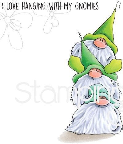 Stamping Bella EB659 Gnome Pile Cling Stamps, Multicolor (Color: Multicolor)