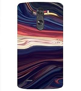 PrintVisa Colorful Wave Design 3D Hard Polycarbonate Designer Back Case Cover for LG G3 MINI