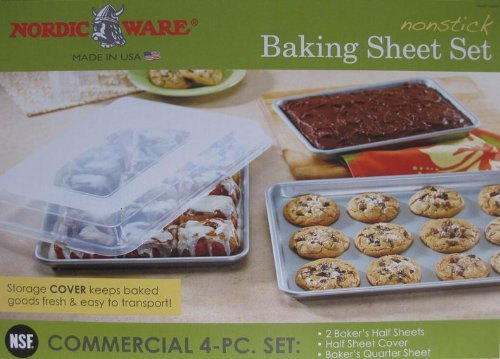 Nordic Ware Non-Stick 4-Piece Baking Sheet Set