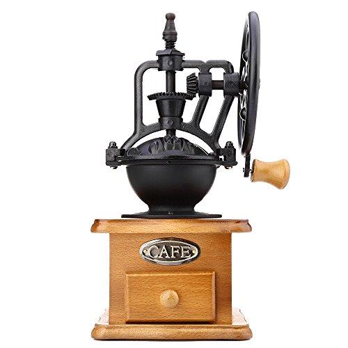 YOOYOO Retro Style Burr Coffee Grinder Hand Grinding Machine Hand-crank Roller (TAN) 0