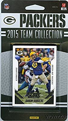 Green Bay Packers 2015 Score NFL Football Factory Sealed EXCLUSIVE Limited Edition 15 Card Complete Team Set with Clay Matthews Aaron Rodgers Brett Hundley RC and Many More! Shipped in Bubble Mailer