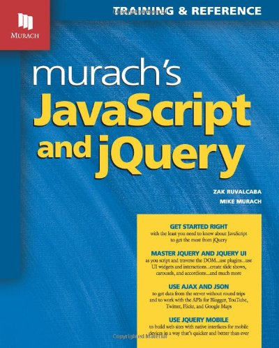 Murach's JavaScript and jQuery 1890774707 pdf