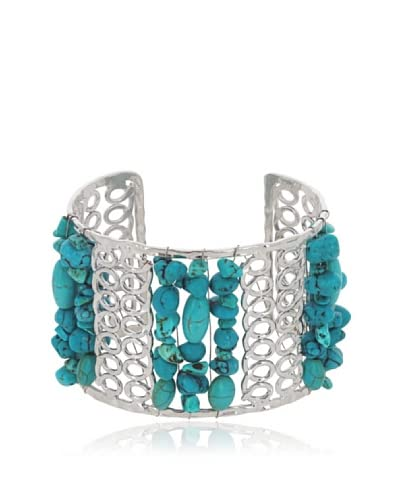 Fashionvictime Brazalete 8299163 Plateado / Azul