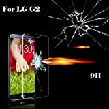 CRAZYPROFIT LG G2 Screen Protector Perfect Premium Tempered Glass Screen Protector High 9H Hardness Ultra Slim Thickness 0.26mm (thinner than 0.3mm) Tempered Glass Screen Protector for LG G2 (LG G2)